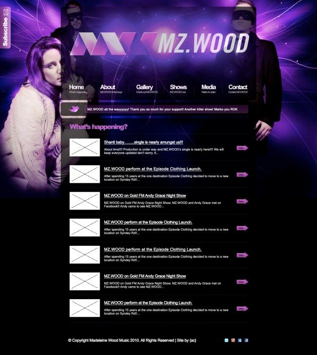 MZWOOD New homepage design