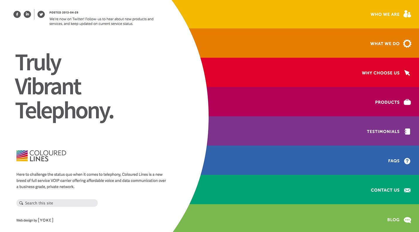 Coloured Lines Website