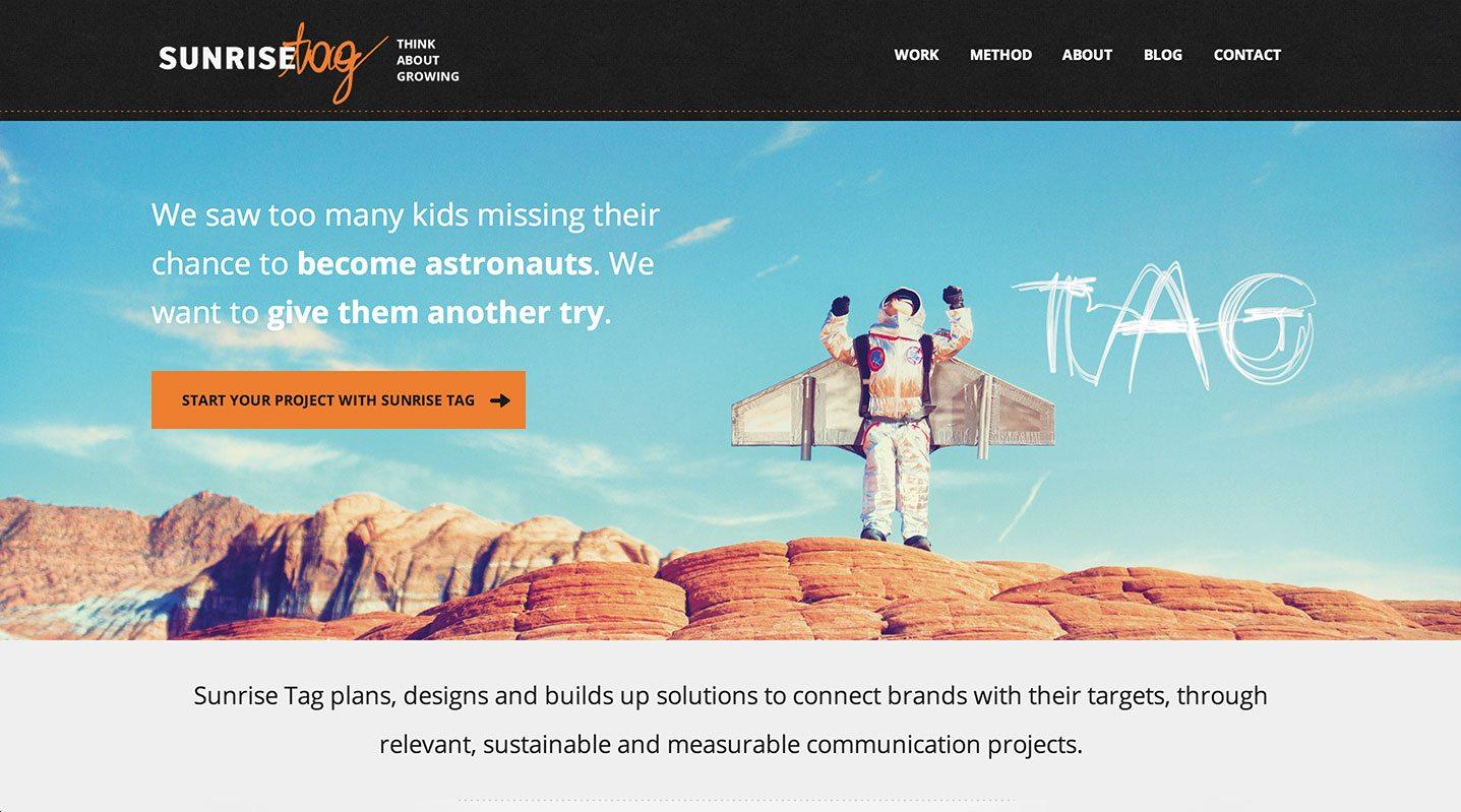 sunrisetag website